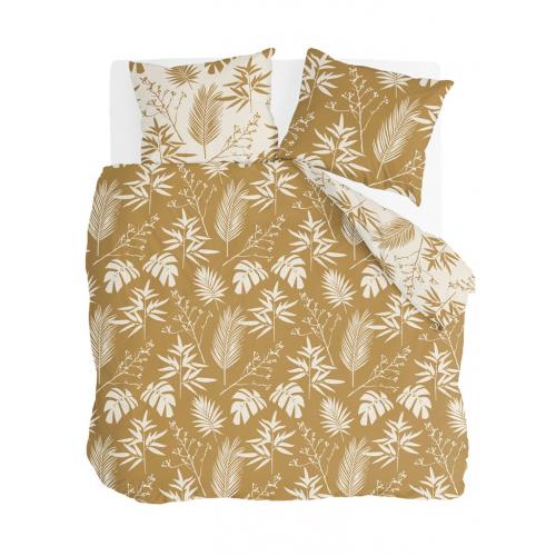 Byrklund dekbedovertrek Golden Flowers (okergeel)