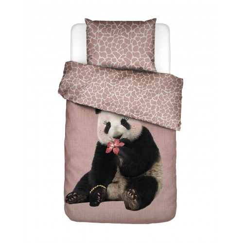 Covers & Co dekbedovertrek Panda dreams (roze)