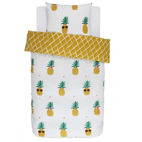 Covers & Co dekbedovertrek Pineapple (geel)
