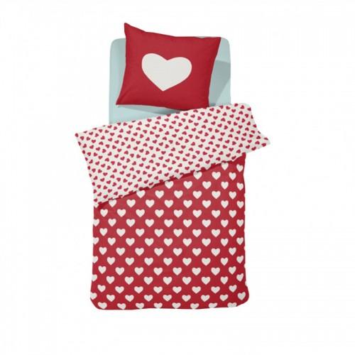 Damai peuterdekbedovertrek Hearts (rood)