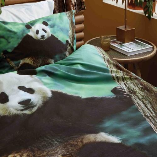 Damai dekbedovertrek Panda (green)