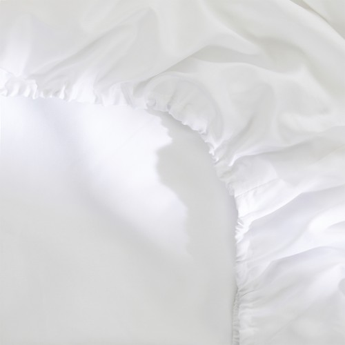 Damai organic satijnen hoeslaken (tot 30 cm, white)