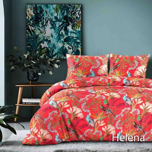 Papillon dekbedovertrek Helena (satijn, koraal)