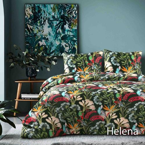 Papillon dekbedovertrek Helena (satijn, groen)