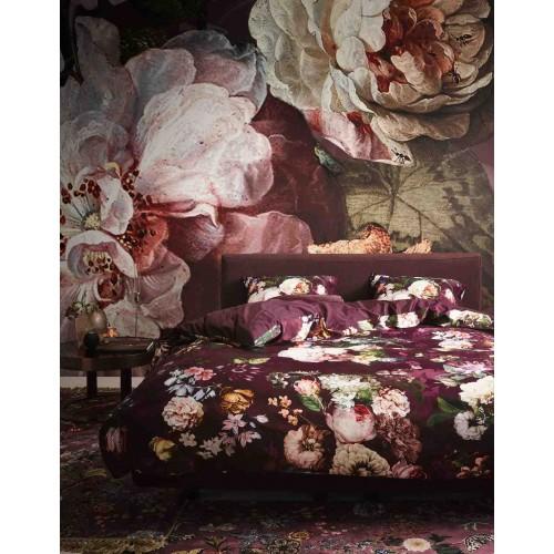 Essenza dekbedovertrek Fleur (satijn, burgundy)