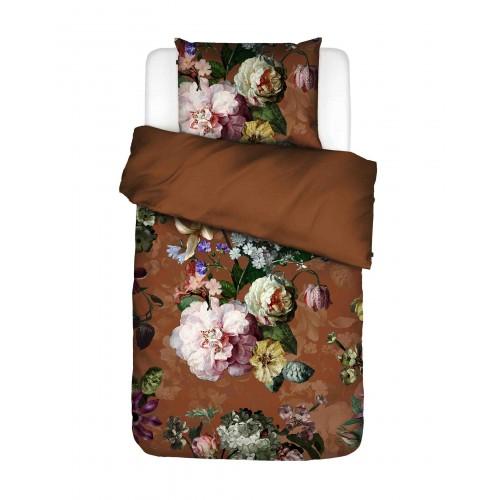Essenza flanellen dekbedovertrek Fleurel (leather brown)