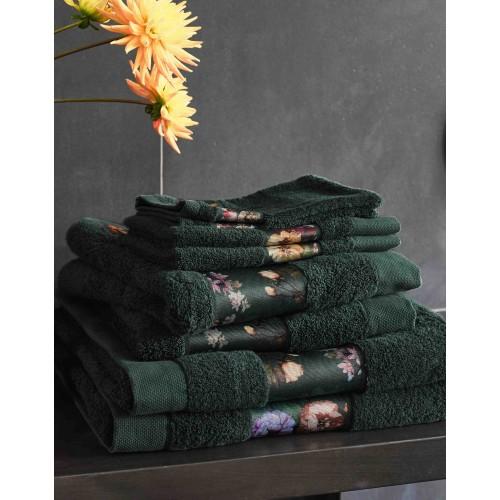 Essenza handdoek Fleur 70x140cm (dark green)