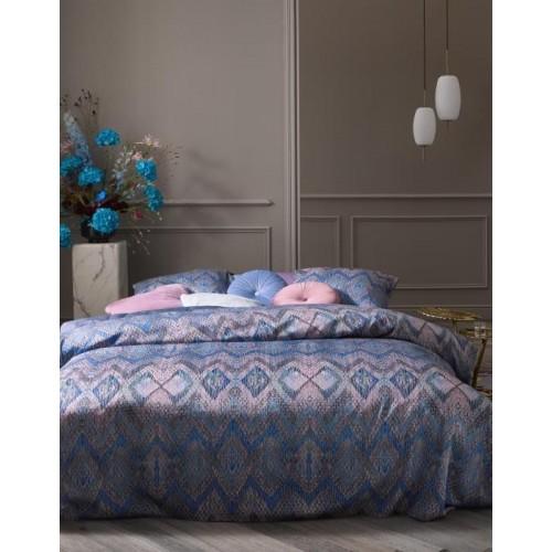 Essenza dekbedovertrek Fabienne (satijn, bleu granite)