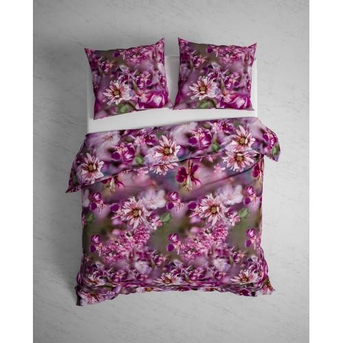 Heckett Lane bio flanellen dekbedovertrek Margaret (purple)