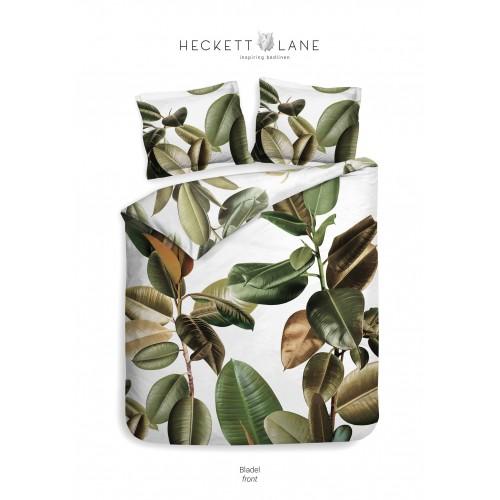 Heckett Lane bio katoen twill dekbedovertrek Bladel (leaf green)