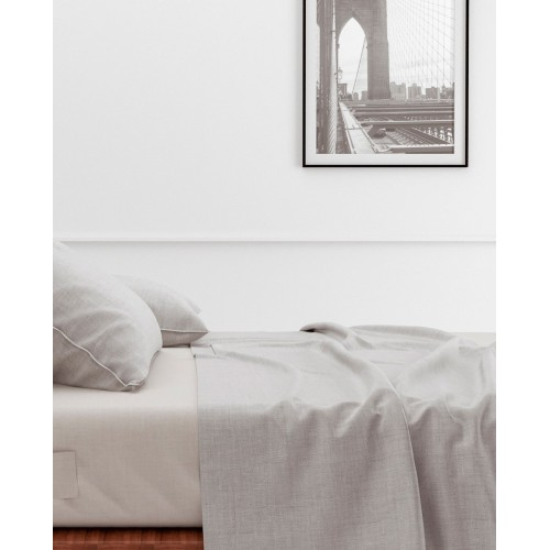 Zo! Home laken Lino 270x290cm (Dove Grey)
