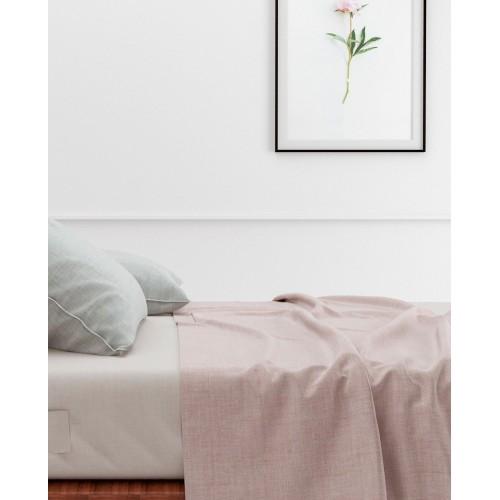 Zo! Home laken Lino 160x290cm (Shell Nude)