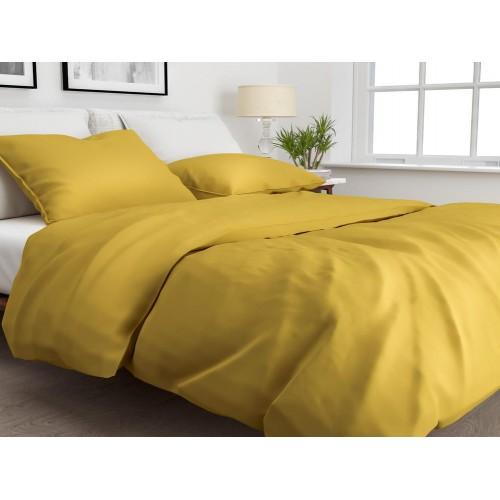Zo! Home dekbedovertrek Satinado Solid (satijn, ochre gold)