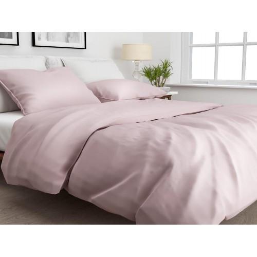 Zo! Home dekbedovertrek Satinado Solid (satijn, shady pink)