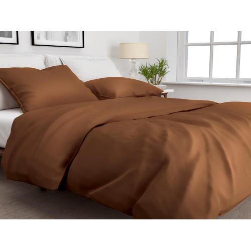 Zo! Home dekbedovertrek Satinado Solid (satijn, copper orange)