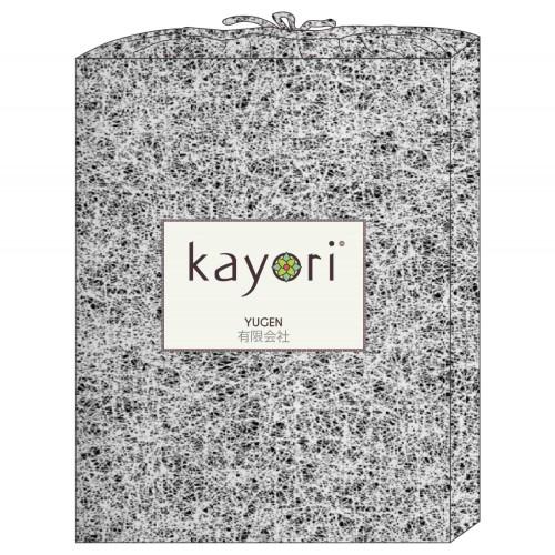 Kayori bio katoen-satijnen dekbedovertrek Kiayo (zilver)