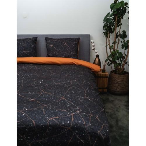 Kayori bio katoen-satijnen dekbedovertrek Koani (leather)