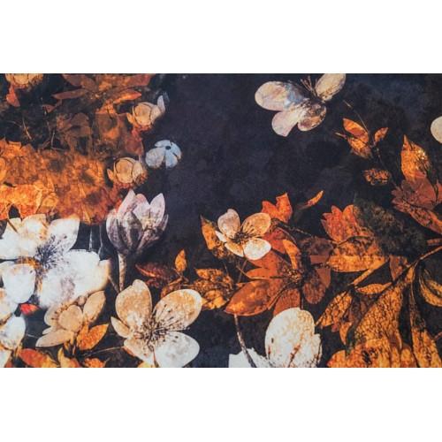 Kayori bio katoen-satijnen dekbedovertrek Senji (oranje)