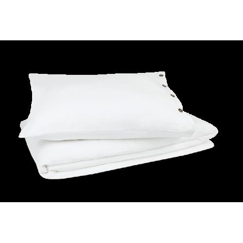 Kayori natuurlijk linnen dekbedovertrek Nikko (wit)