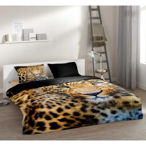 Pure dekbedovertrek Leopard (4835, zwart)