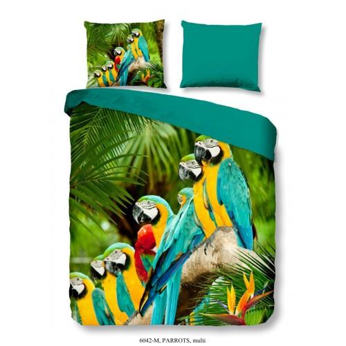 Pure dekbedovertrek Parrots (6042, multi)