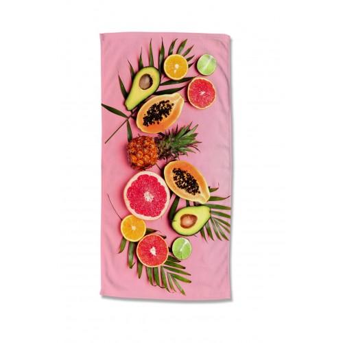 Goodmorning strandlaken Pink Fruits (2089, 75x150cm)
