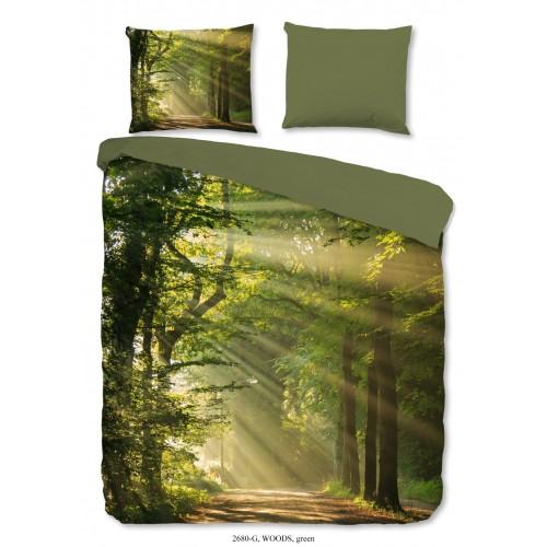 Goodmorning dekbedovertrek Woods (2680, groen)