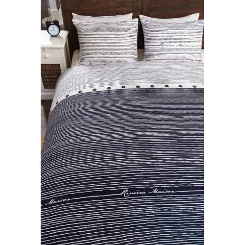 Riviera Maison dekbedovertrek Sylt Stripe (blauw)