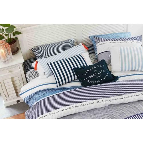 riviera maison sierkussen good life blauw 30x40cm