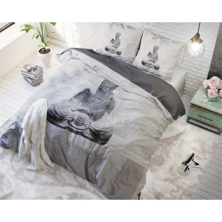 Sleeptime dekbedovertrek Buddha Love (taupe)