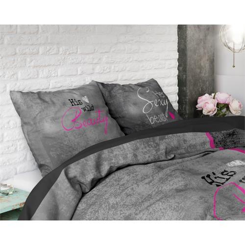 Sleeptime dekbedovertrek Beauty and Beast (zwart)