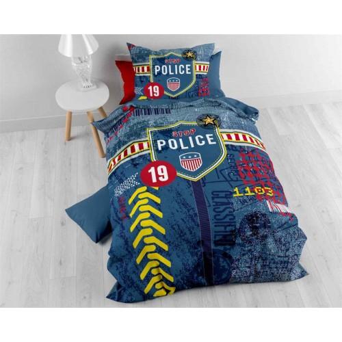 Sleeptime dekbedovertrek Police (blauw)