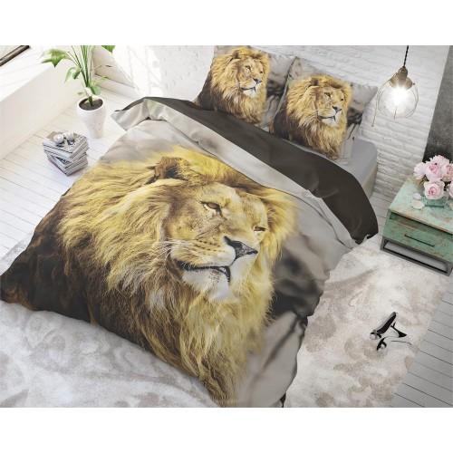 DreamHouse dekbedovertrek Lion Mind (taupe)