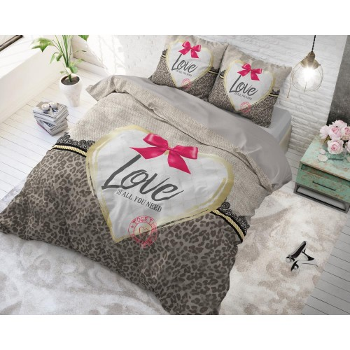 Sleeptime dekbedovertrek Wild Love 3 (taupe)