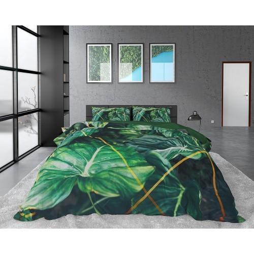 DreamHouse dekbedovertrek Nature Vibes (satijn, green)
