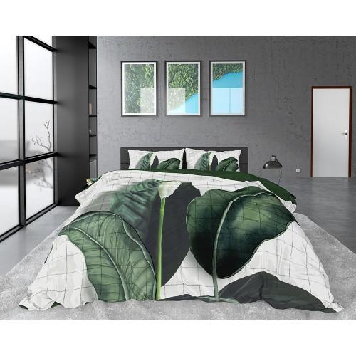 DreamHouse dekbedovertrek Wild Nature (satijn, green)