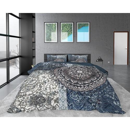 DreamHouse dekbedovertrek Wild Azia (satijn, indigo)