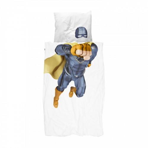 Snurk dekbedovertrek Super Hero blauw 140x200/220