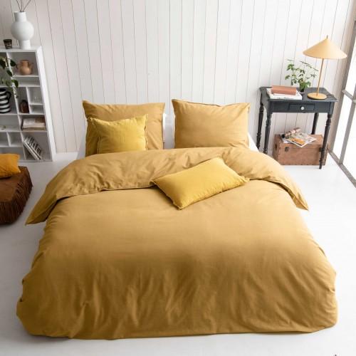 Walra dekbedovertrek Vintage Cotton (honing mosterd)