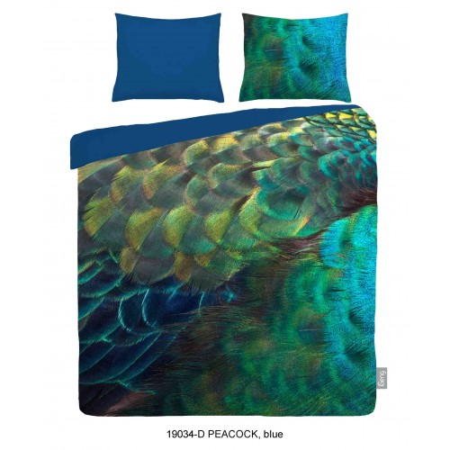 iSeng dekbedovertrek Peacock (19034, blauw)