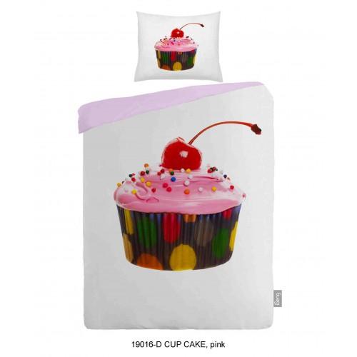 iSeng dekbedovertrek Cup Cake (19016, roze)