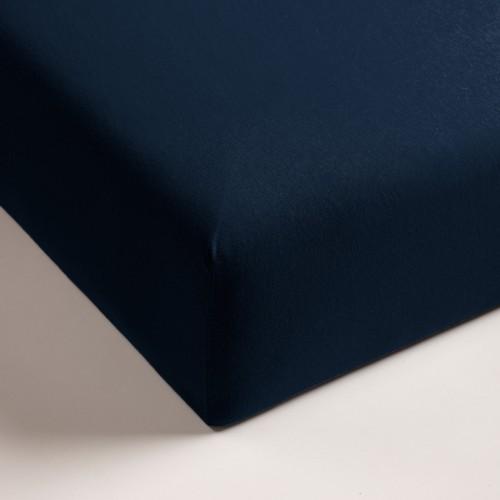 Double Jersey hoeslaken donker blauw