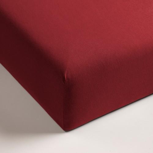 Double Jersey hoeslaken rood