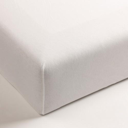 Jersey hoeslaken voor boxsprings (wit, 40cm)