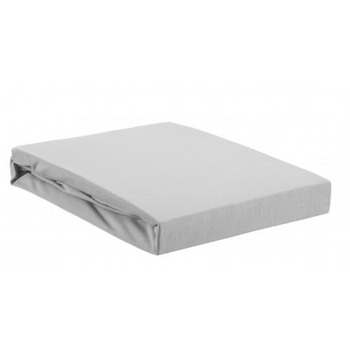 Boxspring hoeslaken zware kwaliteit | Hoge hoek (lichtgrijs, 40cm)