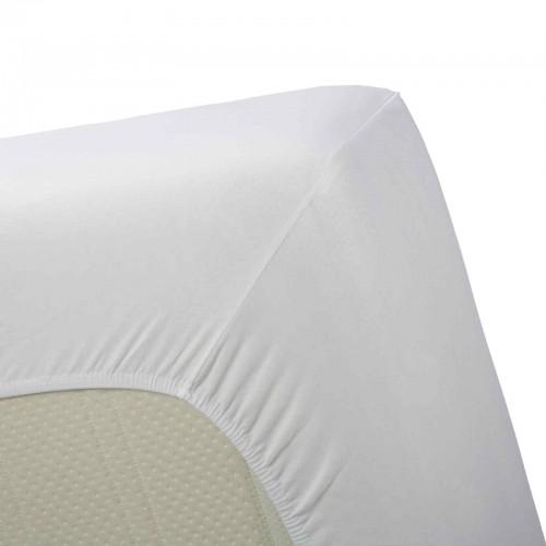 Boxspring hoeslaken zware kwaliteit   Hoge hoek (wit, 40cm)