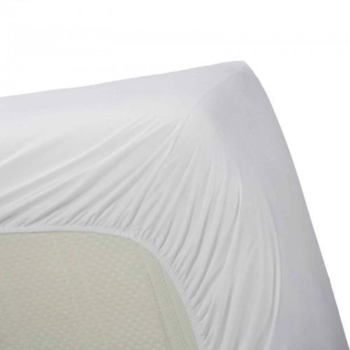 Katoenen hoeslaken wit (hoekhoogte 30cm)