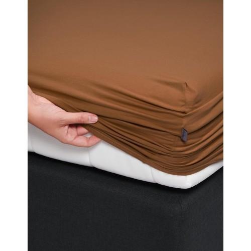 Essenza Premium Jersey hoeslaken (leather brown)