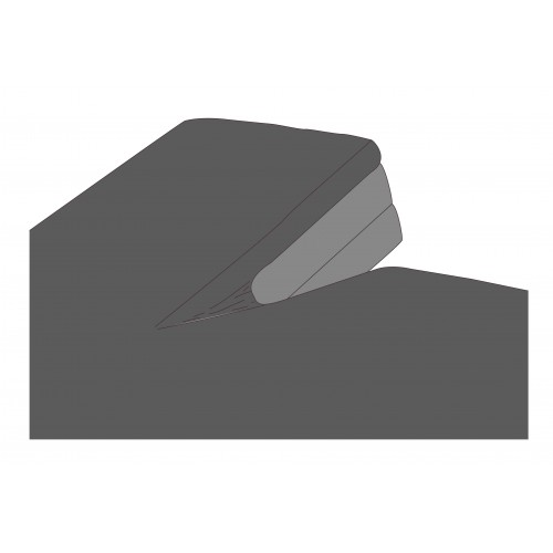 Kayori bio-jersey splitopper hoeslaken (tot 10cm, antraciet)