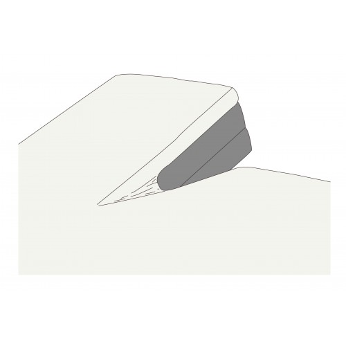 Kayori bio-jersey splitopper hoeslaken (tot 10cm, offwhite)